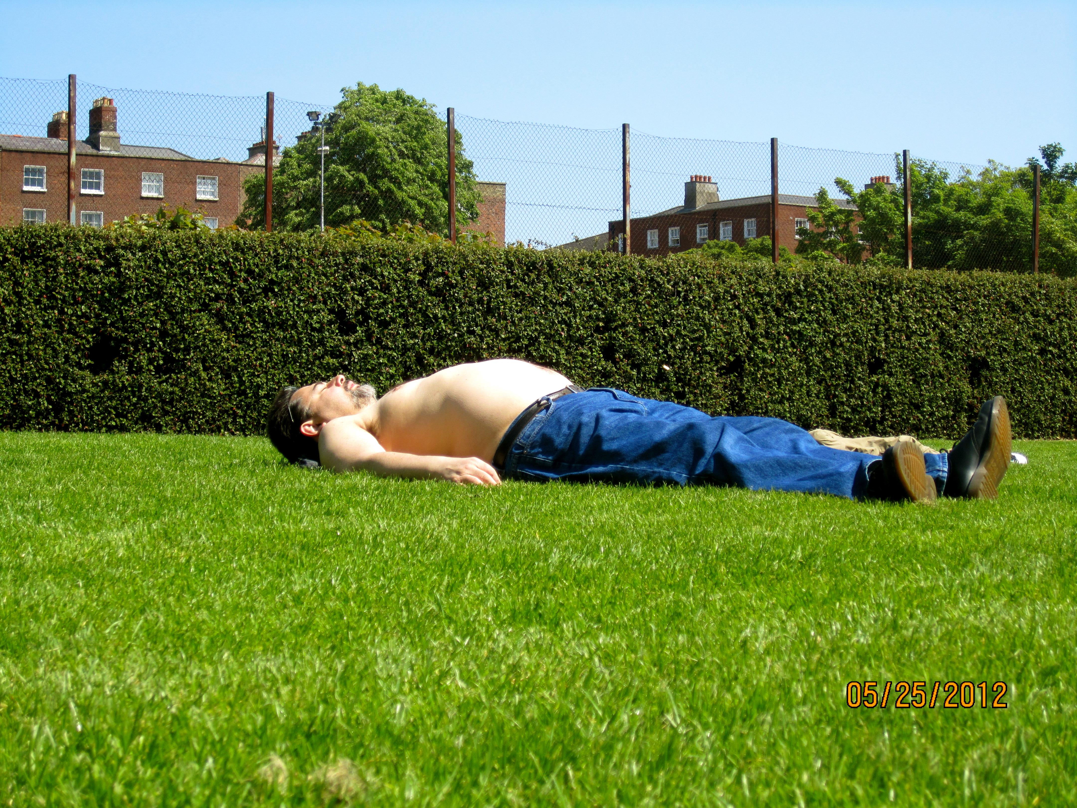 irish sunbather